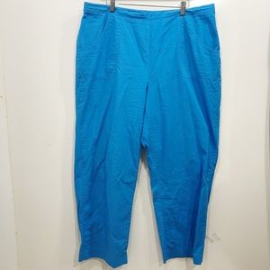 Alfred Dunner Size 20W Blue Pants Solid Cotton